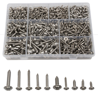 900PCS Stainless Steel Round Head Washer Cross Self Tapping Bolt Screws PWA With Pad For Hardware