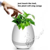 1PC New Smart LED Bluetooth Music Vase Speaker Real Plant Touch Sensing Flower Pot USB Charge