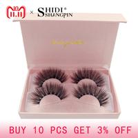SHIDISHANGPIN natural long   false     eyelashes   full strip lashes makeup 3d mink lashes volume fake eye lashes soft mink   eyelashes