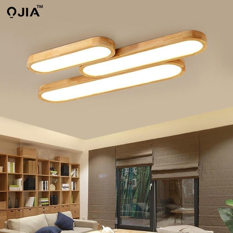 Remote control Ceiling Lights Wooden decorative ceiling lamps panels For Living Room Bedroom lamp deckenleuchten