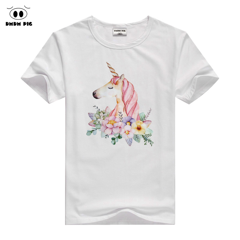 Funny Kids Unicorn Tshirt Cotton Short Sleeve T-Shirts For Girls Tops Summer Childrens Clothes Teenage T Shirts 12 13 14 Years