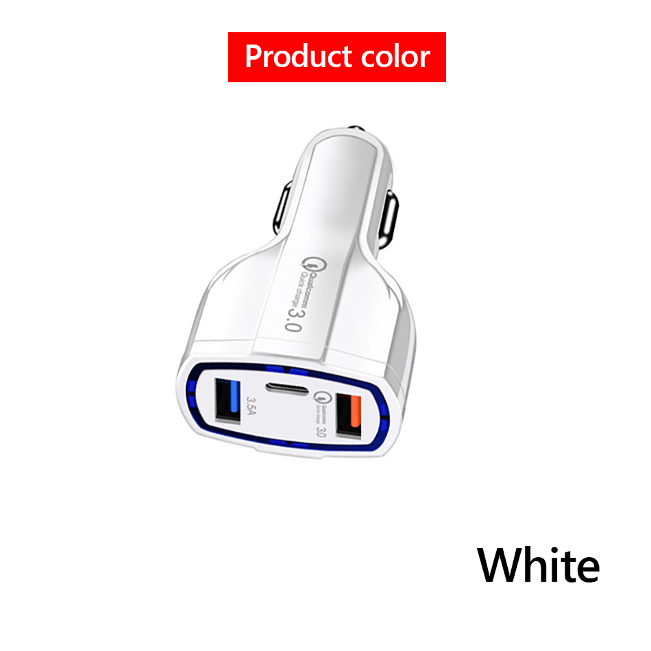 !ACCEZZ Universal Mini Double Port USB QC Car Charger Quick Charge 3.0 2.0 With LED Fast Type-C Car Phone Charger For Samsung S8 (9)