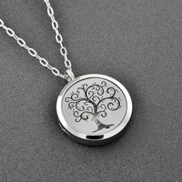 Ijp0178 Free Pads Top Women Beautiful Patterns Tree Perfume Essential Oil Diffuser Pendant Necklace