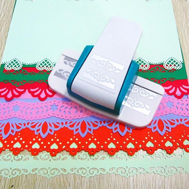 2 개 많은 큰 크기 멋진 스크랩북 종이 테두리 펀치 꽃 엠보싱 펀치 수제 가장자리 장치 DIY 커터