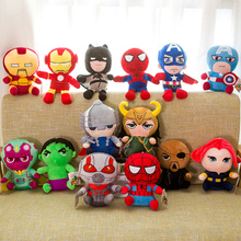 25cm Marvel Avengers 4 Superhero all staff Plush toy Dolls Captain America Ironman Iron man Spiderman loki Thor Soft Toy