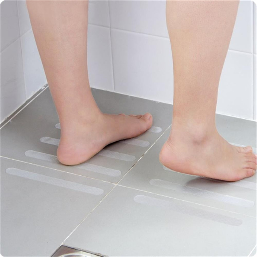 10Pcs Anti Slip Bath Mat Grip Stickers Non Slip Shower Strips Flooring Safety Tape Mat Pad Bathroom Accessories JL20