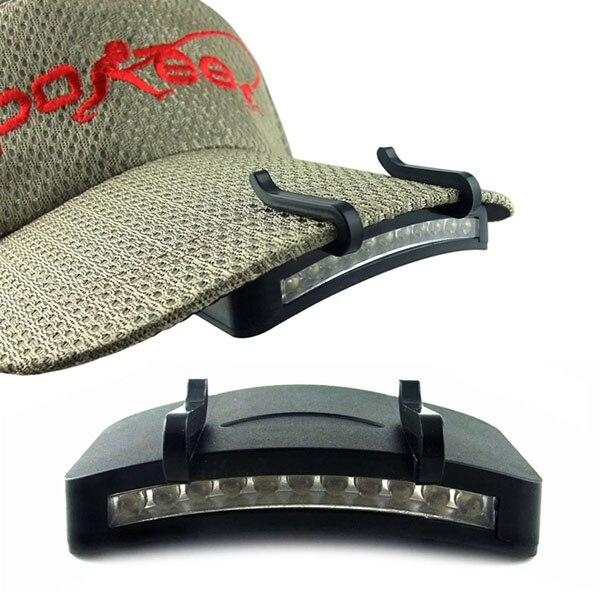 Outdoor Camping Headlamp Camping Fishing Cycling LED Baseball Hat Cap Clip ON Lamps Light Bulbs D1