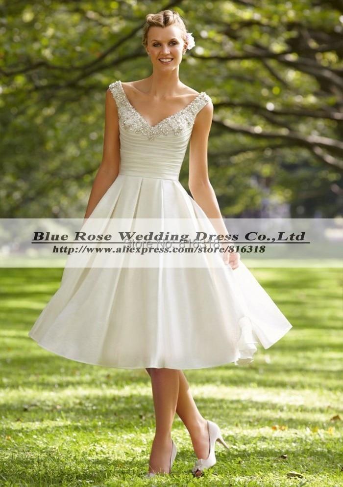 Tea Length Wedding Dresses with Cowboy Boots – Fashion dresses