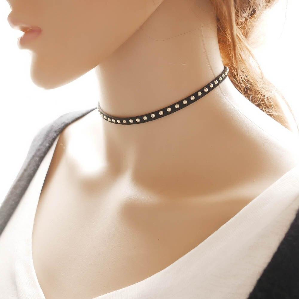 Choker Moana New Classic Zinc Acrylic Lovers' Maxi Necklace Collares Collier Bohemian Rivet Nail Hot Twist Plain / Light For