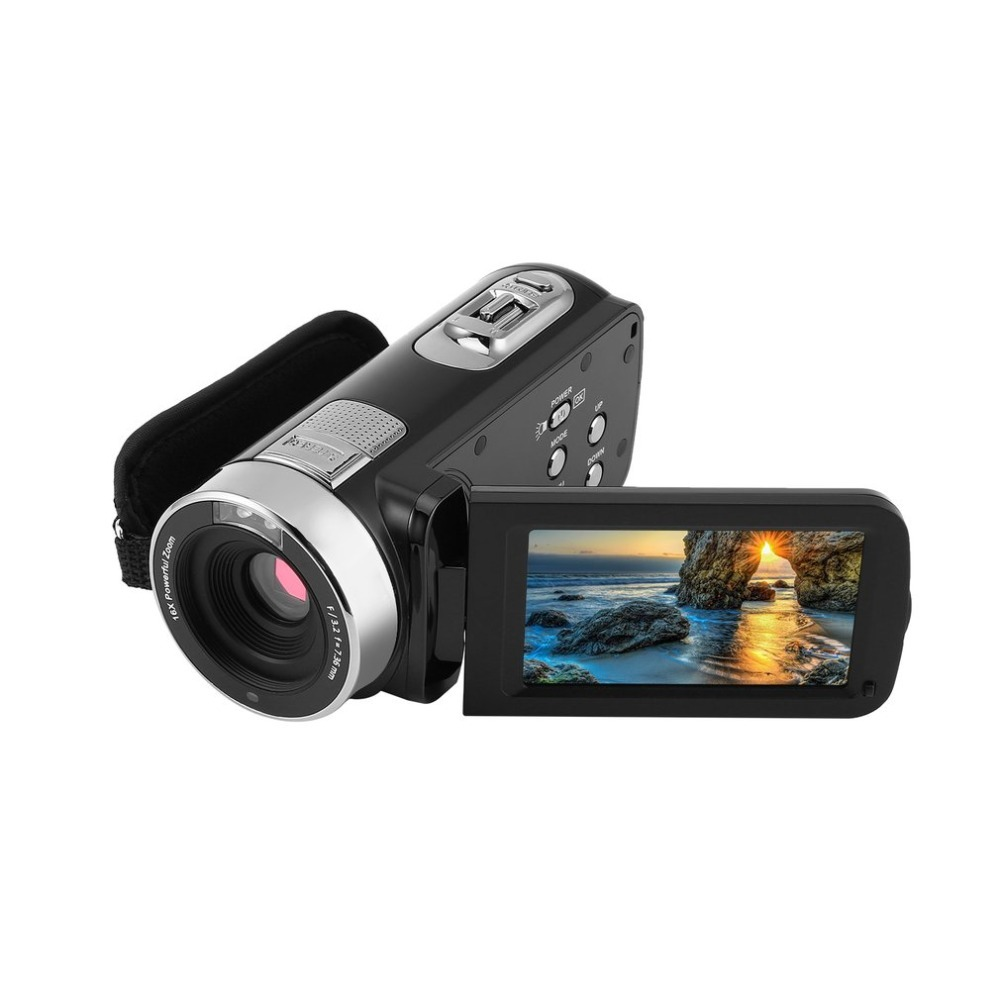 HD 1080P Camera With Microphone Remote Control Infrared Night Vision 24 MP Megapixels 16XPowerful Digital Zoom Video Recorder