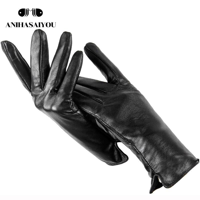 Simple Leather Gloves Women,genuine Women's Leather Gloves,sheepskin Women's Gloves,High Grade Warm Mittens Women's Winter - 707