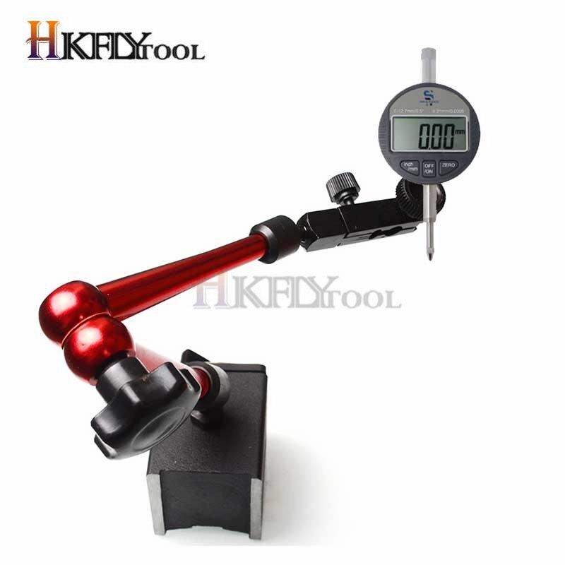"""Adjustable Digital Lever Dial Test Indicator Gauge Magnetic Base Holder 6/"""""""