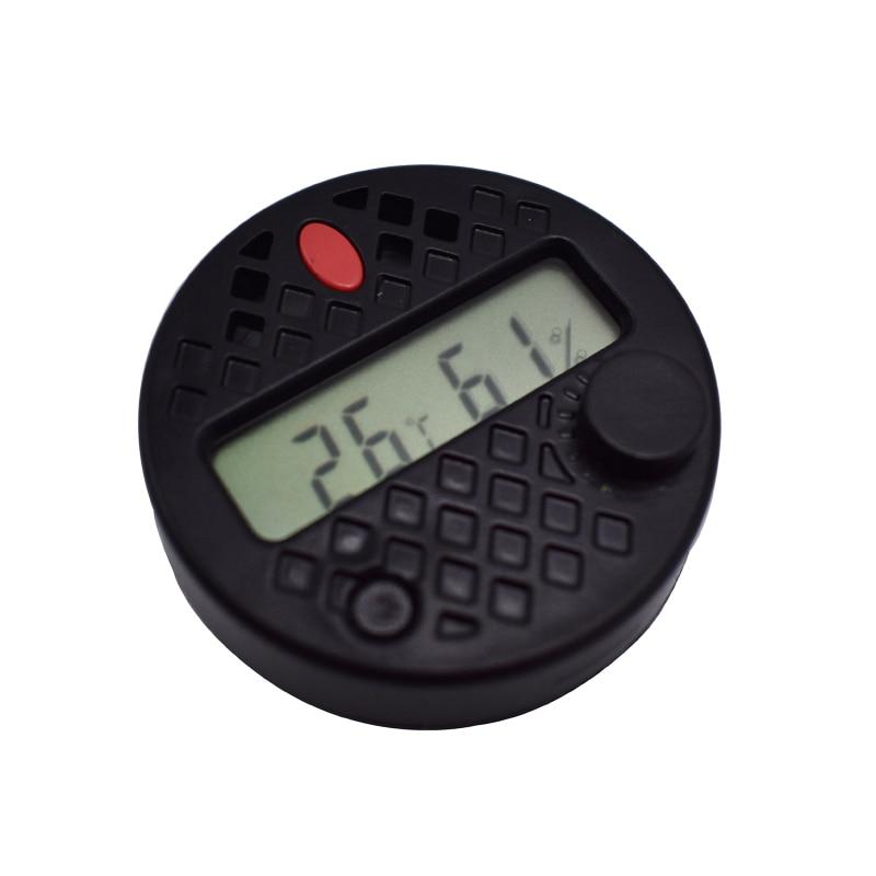 Round Shape Accurate Precision Cigar Hygrometer Temperature Humidity Gauge Adjustable Succulometer Electronic Digital