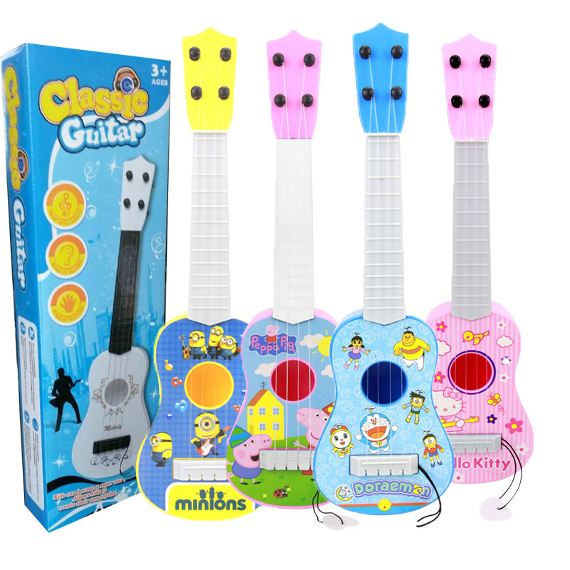 Simulated Ukulele Guitar Music Toy Gift  Enlightenment Instruments Music Toys For Kids  Baby Music Toddler Toys