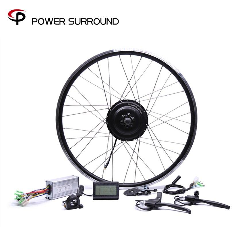 Bicicleta Eletrica 48v500w Bafang Anteriore/posteriore Bicicletta Elettrica Kit di Conversione Brushless Motori sui mozzi 20 ''26'' 28''diy Ruota