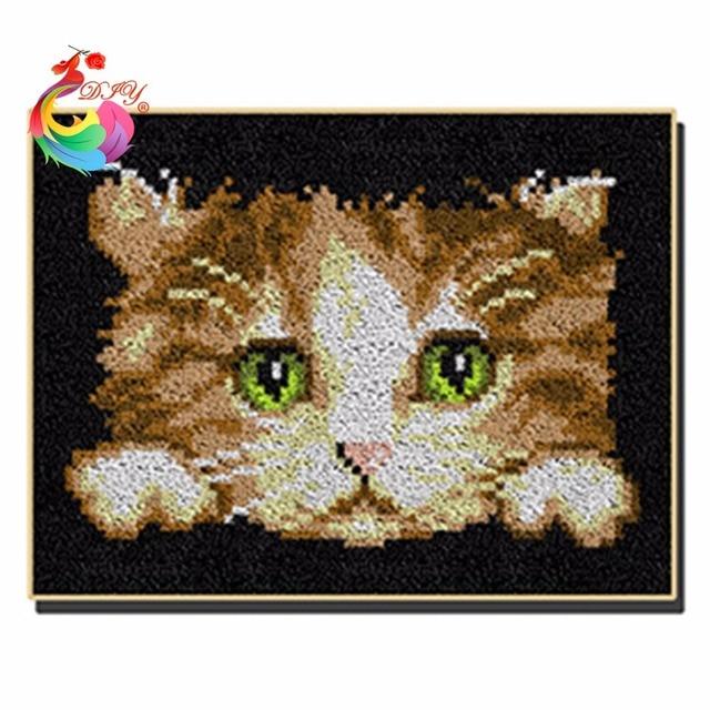 Набор для вязания ковров коврики подушки птица Нитки для вышивания крючки clover cat спицы крючок