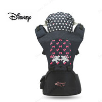 New Disney Summer Breathable Ergonomic Carrier Backpack Portable Infant Baby Carrier With Cap Toddler Hipseat Carrier