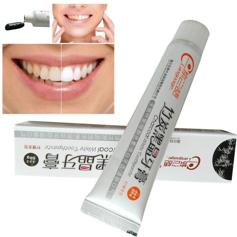 50 Bamboo Toothpaste Charcoal Black Toothpaste Teeth Whitening Cleaning Hygiene Oral Care
