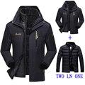 2016 новая зимняя куртка мужской/женский пуховик Водонепроницаемый ветрозащитный отдых куртка Плюс толстый бархат Теплое пальто куртка М-6XL