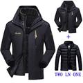 2016 nueva chaqueta de invierno hombre/mujer Abajo chaqueta Impermeable a prueba de viento ocio chaqueta de terciopelo grueso abrigo Caliente chaqueta M-6XL