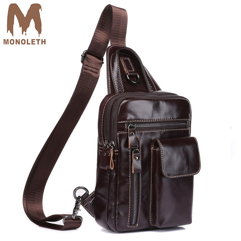MONOLETH 2018 High Quality Vintage Genuine Leather Backpack Men's Mental Bag Casual Shoulder Backpacks Small Bags Travel 8871 2017 small vintage navy blue deinm backpack with cover high quality women daily backpacks for travel 2colors casual jeans bag
