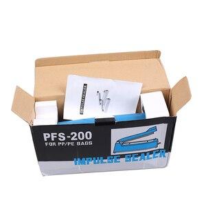Image 3 - 고품질 ac 110 v/220 v, 50 hz 임펄스 실러 수동 열 씰링 기계 알루미늄/플라스틱 오픈 탑 가방 식품 저장 가방