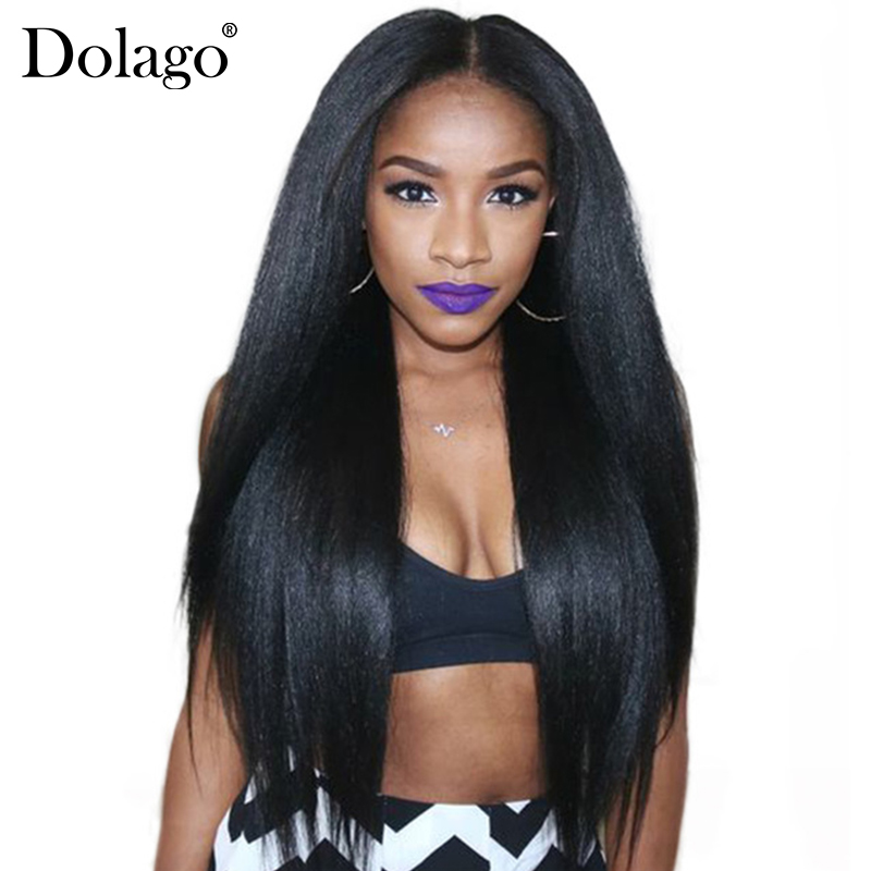 Yaki Menselijk haar Braziliaans Haar Weave Bundels Licht Yaki Straight Hair Extensions 1 Stuk Dolago Virgin Human Hair Products