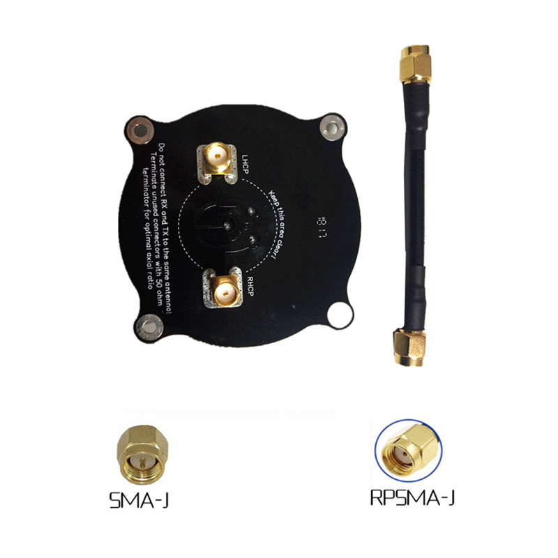 Pagoda Pro 5.8 Ghz Panel Antenna Patch Antenna Omnidirectional Triple Feed Antenna for <font><b>FPV</b></font> Racing <font><b>Drone</b></font> Fatshark <font><b>Goggles</b></font> image