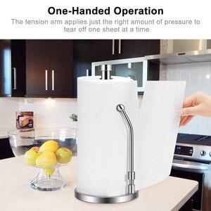 Image 3 - Papier Handtuch Halter Edelstahl Stehende Tissue Halter Einhand Reißen Perfekte Moderne Design für Küche Hält Küchen