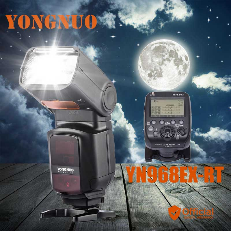 YONGNUO YN968EX-RT Master TTL HSS Wireless Flash Speedlite+Trigger for Canon eos 1Dx 1Ds 1D 5DIII 5DII 7DII 5D 6D 7D 80D 70D 60D yongnuo flash speedlite wireless transmitter yn e3 rt for canon cameras compatible with yn600ex rt as st e3 rt