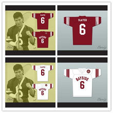 0e9219bf4f0 XS-6XL AC Slater 6 Bayside Tigers High White Red School Football Jersey  Includes Tiger
