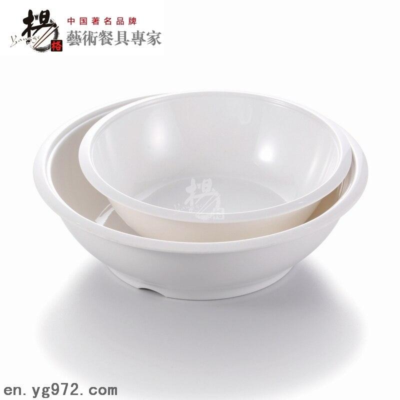 Chinese style white plastic melamine big fish soup bowl for Large plastic fish bowl
