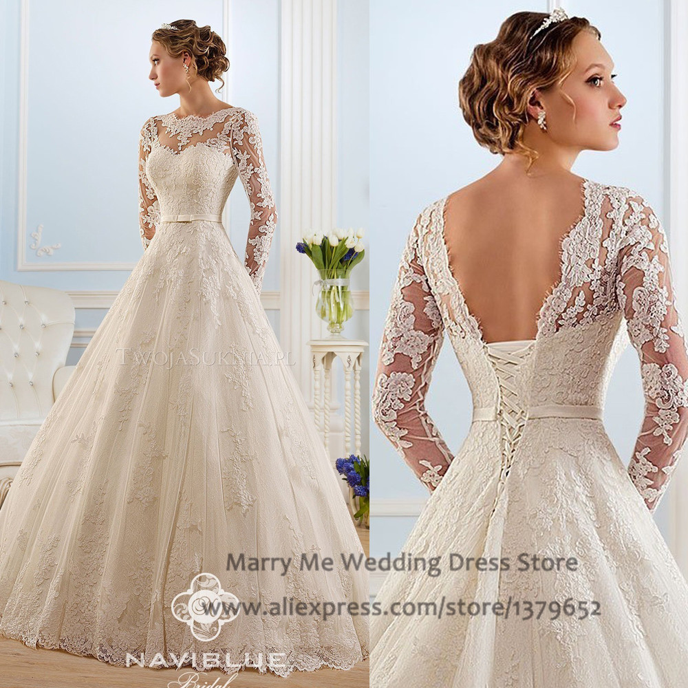 Vestido De Noiva Renda Vintage Lace Princess Wedding Dress: Vestido De Noiva Renda Ivory Lace Wedding Dresses Plus