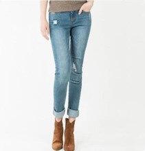2017 Jeans Leggings Women Real Pocket Mid Waist Fashion Cotton Slim Trousers Workout Clothes for Women Fitness Legging Women