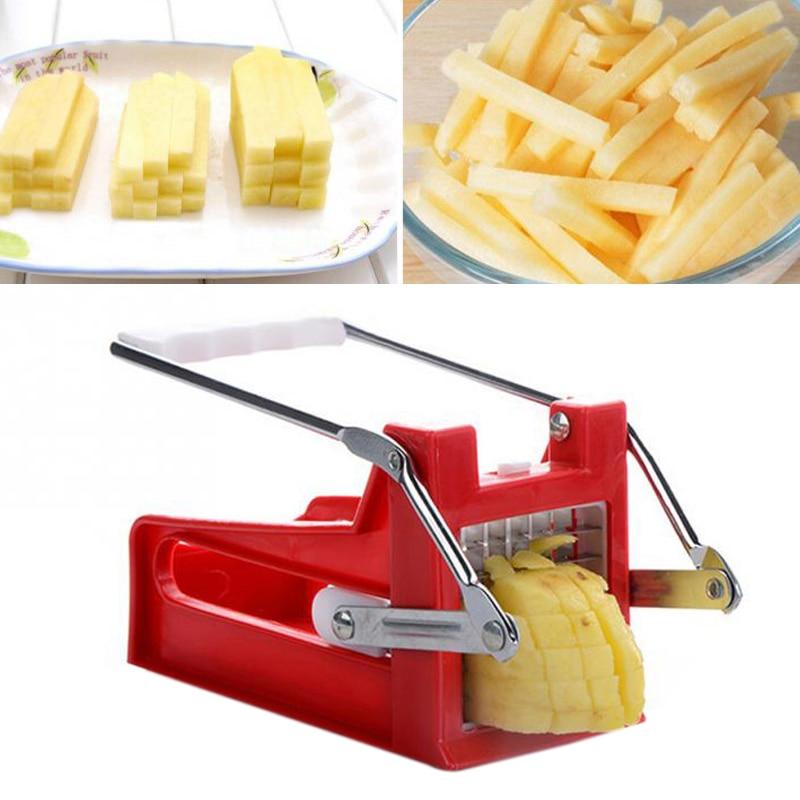 Kitchen Gadgets 2 Blades Potato Cutter Chopper Stainless
