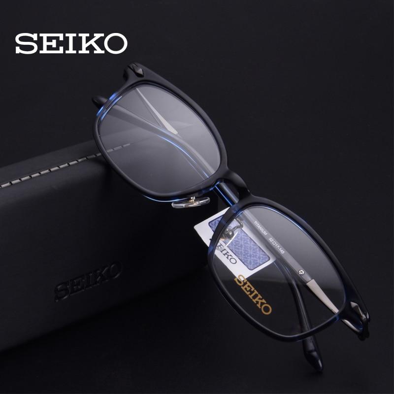 SEIKO Acetate Titanium Optical Glasses Frame Man Women Progressive Eyeglasses Eye Glass Spectacles Frames Multifocal H03089