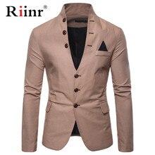 Riinr, Новое поступление, роскошный мужской блейзер, модный бренд, высокое качество, хлопок, Слим Фит, мужской костюм, Terno Masculino, блейзеры для мужчин