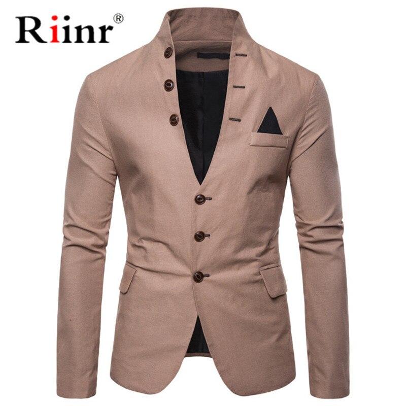 Riinr nova chegada de luxo dos homens blazer nova marca de moda alta qualidade misturas algodão fino ajuste masculino terno terno terno masculino blazers