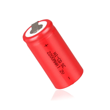 цена на 10PCS/lot JNKXIXI  Sub C SC 1.2V 2200mAh Ni-Cd Ni Cd Rechargeable Battery Batteries Red color Free shipping