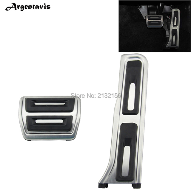 2PCS AT Car pedals for Audi Q3 VW Golf 6 MK6 Jetta MK5  Octavia Passat B6 B7L CC Superb Accelerator Brake Gas pedal accessories