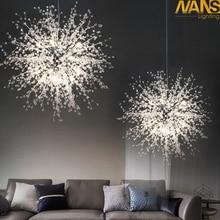 NANS Modern G4 LED chandelier acrylic lighting lamp for dining room living room lampadario moderno Luster Chandelier Lighting