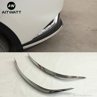 Fit For Nissan Qashqai J11 2016 to 2019 ABS Chrome Front Bumper Foglight Eyelid Garish Strips Trim Exterior Moulding Car Styling