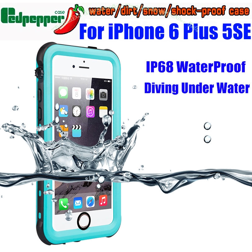 Waterproof Case For IPhone 6 Plus SE 5S Original RedPepper Dot Series IP68 Diving Underwater PC TPU Cover For IPhone 6 ISE3