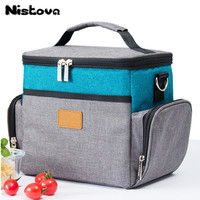 New Fashion Large Capacity Portable Lunch Bag Oxford Cloth Thickening Insulation Bag Traveling Out Food Preservation Package