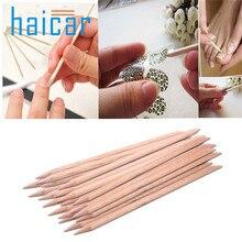 Haicar 20 шт. nail art orange вуд придерживайтесь кутикулы pusher remover педикюр маникюр инструмент u6706