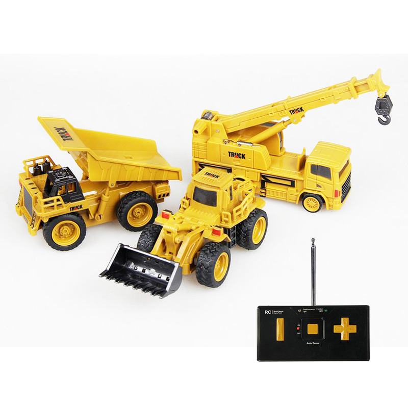 1/64 Mini RC Dump Truck Excavator Crane Truck Radio Controlled Machine RC Car Remote Control Toys for Children Christmas Gift radio-controlled car