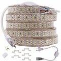 276 светодиодный s/m три строки Светодиодные ленты 2835 220 240 V Водонепроницаемая лента со светодиодными лампами дюралайта теплые белые украшения для дома освещения новый - фото