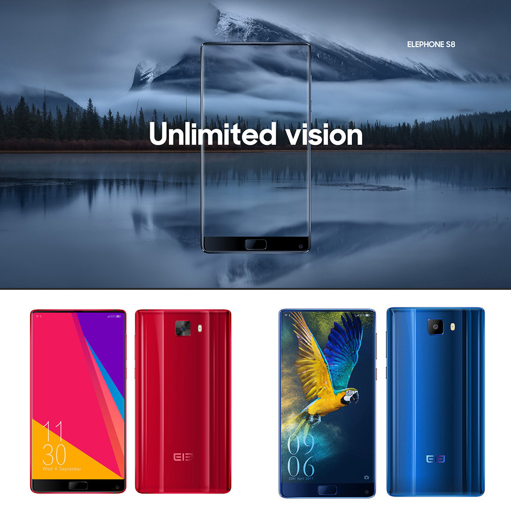 6.0'' Elephone S8 2K Screen 4G Phablet Android 7.1 Deca Core 4GB 64GB 21MP NEW S.14 vernee m6 4g phablet