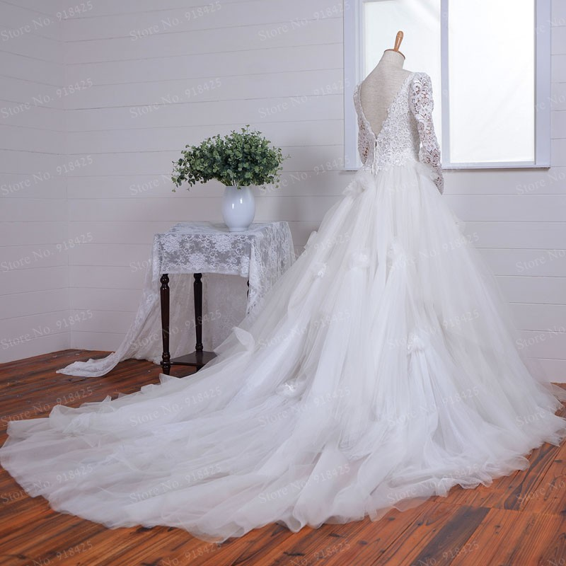 Viktorianischen Stil Vintage Brautkleider Lange Tüll Formale ...