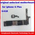 Placa base con touch id desbloqueo de fábrica para iphone 6 plus 64 gb 100% original placa lógica placa base con sistema ios fingprint